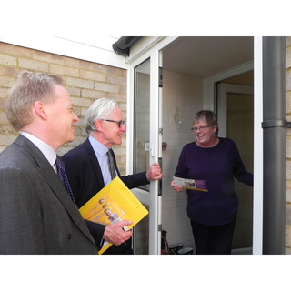 Stephen Robinson campaigning with Norman Lamb MP